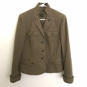 LAUREN RALPH LAUREN Tweed Wool Blend Blazer Jacket